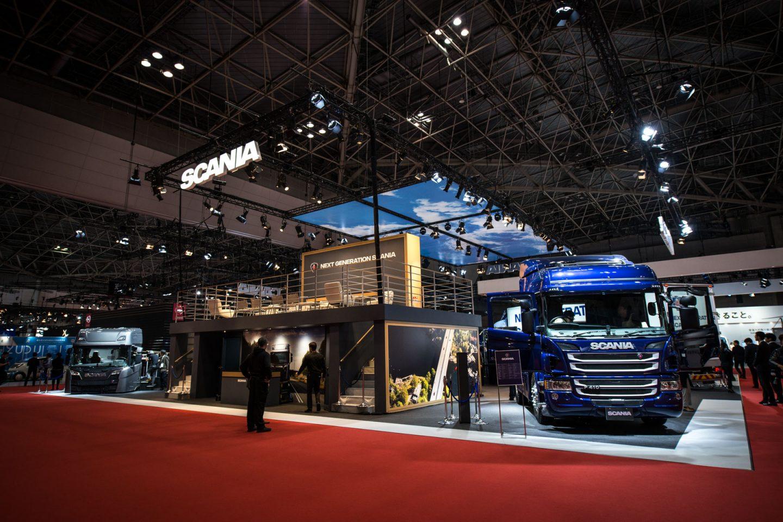 スカニアの新モデル、東京モーターショーでアンヴェール!